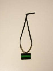 Allujewels accessories, Code:  LACCI CORNO COLLANA GREEN