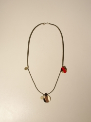 Allujewels accessories, Code:  SNAKE BRONZO COLLANA RED