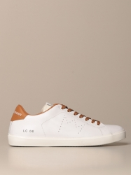Leather Crown shoes, Code:  MLC06 WHITE