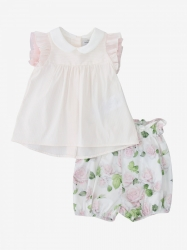 Monnalisa Bebe' clothing, Code:  315501 5150 YELLOW CREAM